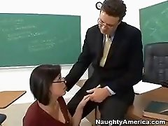 Nerdy Brooke Lee Adams Fucks Her Teacher