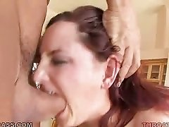 Brunette Cutie Begs For A Raw Face Fucking