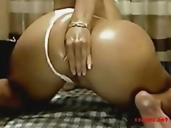Blonde with Big Booty Anal Play