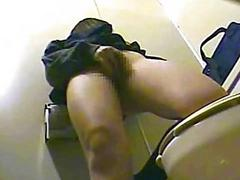 Asian Teen Girl  Voyeur Toilet Masturbation