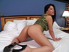 Hottie in camo. JOI