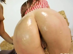 Amazing anal threesome intercourse hard