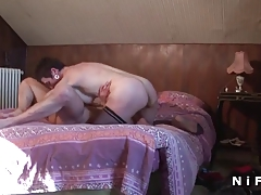 French mature gets her ass hammered