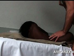 White tourist hardcore nailing Afro slick cunt and mouth