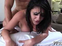 Smoking playgirl receives wild fucking