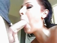 sensual hot Gianna Michaels loves the warmth of his lover's cum on her mouth