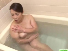 Milf Yuuko enjoys a gentle cock sucking session