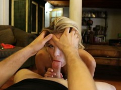 Perfect blonde's pov blowjob