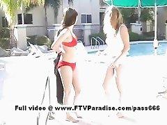 Genuine Genuine lesbians in the pool